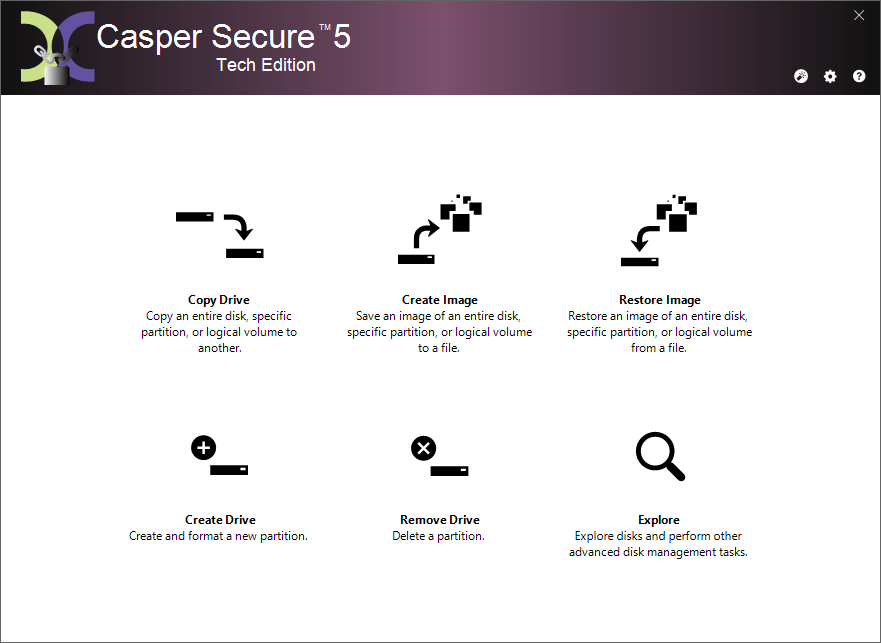 Image of Casper Secure Tech Edition Main Console